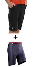 Mecca - Baggy and Base Cycle Short Combo (Black)