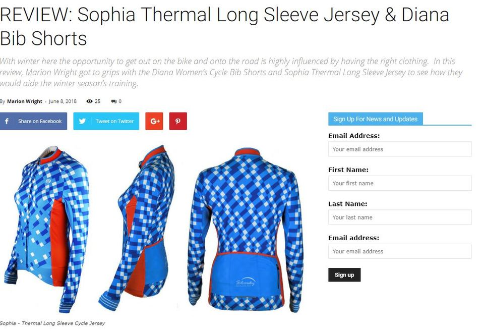 RoadCycle.co.nz Sophia Women's Jersey Review